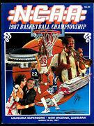 1987 Ncaa Final Four Basketball Prog Syracuse Indiana Unlv Providence Nm-mt