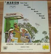1965 Marion Ohio Telephone Directory Green Camp Harpster Larue Morral