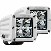 Rigid Industries Surface Mount White D-series Pro Hybrid Flood Led Light Pods