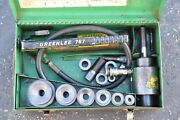 Greenlee 7306 Ram And Hand Pump Hydraulic Driver Kit With 6 Conduit Sized Punches