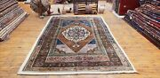 Exquisite Pre-1900s Antique Natural Dye Wool Pile Area Rug Taspinar Province