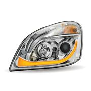 2008-2018 Freightliner Cascadia Led Projector Headlight W/ Led Strip - Driver