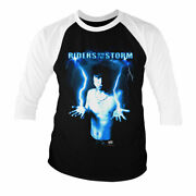 Officially Licensed Riders On The Storm- Jim Morrison Baseball 3/4 Sleeve Tshirt