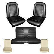 1965 Mustang Coupe Seat Cover Upholstery And Seat Foam Set - Your Color Choice
