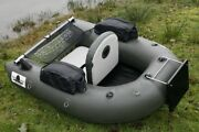 Inflatable 0.7mm Pvc Floating Fishing Wader Belly Boat Raft W/ Motor Board New