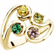 10k Or 14k Solid Gold Motherand039s Day Ring 1 To 5 Birthstones Moms Family Rings