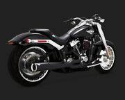 Vance And Hines 47589 Pro Pipe Black 2-into-1 Full Exhaust System 18-20 Softail