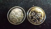 1995 5 Cent Proof And Specimen Out Of Sets Both Perfect