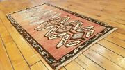 Beautiful Antique 1930-1940and039s Tribal Cushion Cover Wool Pile Rug 1and0396x 3and0392