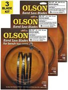 Olson Band Saw Blades 59-1/4 Inch X 1/8,1/4 And 3/8, For 9 Ryobi, Skil, Other