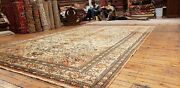 Beautiful Cr1930-1939s Antique Wool Pile Muted Henna Colors Bunyan Rug 7x10ft
