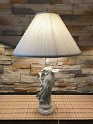 Vintage Art Deco Lady Lamp With A New Murray Feiss Shade Approximately 29andrdquo Tall