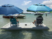 Inflatable Commercial Grade Pvc Floating Fishing Platform Dock Pier W/ Pump New