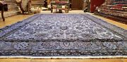 Primitive Vintage 1940-1960and039s Teal Blue Dyewool Pile Oushak Rug 6and0397x11and0396and039and039