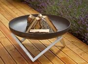Curonian Memel Wood Burning Fire Pit Large 31 Stainless Steel