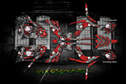 Yamaha Raptor 700 2006-2012 The Freak Show Graphics For White And Red Parts 700r