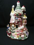 Rare Hand Painted Fitz And Floyd Nutcracker Sweets 15 Christmas Centerpiece Vase