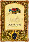 Metal Sign - Lucky Strike Cigarettes - Vintage Look Reproduction 2