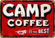 Metal Sign - Camp Coffee - Vintage Look Reproduction
