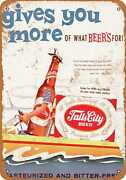 Metal Sign - Falls City Beer And Boating - Vintage Look Reproduction