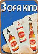 Metal Sign - Falls City Beer And Poker - Vintage Look Reproduction