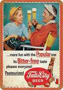 Metal Sign - Falls City Beer And Golf - Vintage Look Reproduction