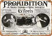 Metal Sign - 1929 Prohibition Movie - Vintage Look Reproduction