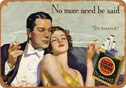 Metal Sign - 1933 Lucky Strike Cigarettes And Romance - Vintage Look Re
