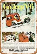 Metal Sign - 1967 Kaiser Jeep Universal V-6 - Vintage Look Reproduction