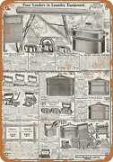 Metal Sign - 1919 Sears Irons And Laundry Equipment - Vintage Look Reproduction