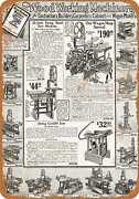 Metal Sign - 1919 Sears Saws And Woodworking Machinery - Vintage Look Repro