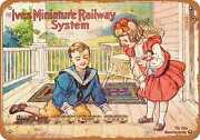 Metal Sign - 1908 Ives Toy Trains - Vintage Look Reproduction