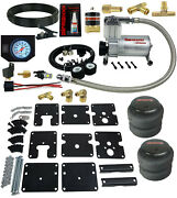 Air Tow Assist Kit White Gauge And Air Compressor For 1999-06 Chevy Silverado 1500