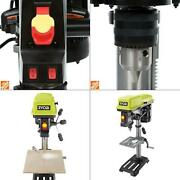 10 In. Drill Press With Laser | Ryobi Light Alignment Speed Tool Bench Keyed Led