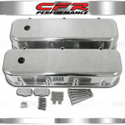 Fits 1965-95 Chevy Bb Big Block Tall Polished Aluminum Valve Covers Smooth