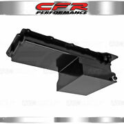 Fits 65-72 Chevy Gm Ls Engine Oil Pan 7 Qt 10an Fitting Wet Sump Black Steel