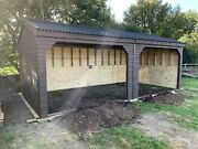 24ft X 12ft Apex Field Shelter Horse / Animal Stable. Made To Order.