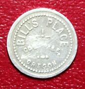Coquille Oregon Billand039s Place Good For 25c Trade Aluminum 24mm Token