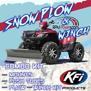 Kfi Honda And03907-and03913 Trx420 Rancher Plow Complete Kit 54 Steel Straight Blade 3000