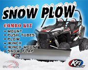 Kfi Polaris And03912-and03914 Ranger 900 Snow Plow Complete Kit 66 Steel Straight Blade