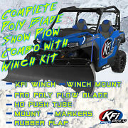 Kfi Polaris And03917-and03918 Ranger 1000 Snow Plow Complete Kit 72 Poly Straight Blade