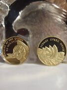 18ct Gold - 2 Medal Set The Royal Visit 1973 Opera House Opening By The Queen