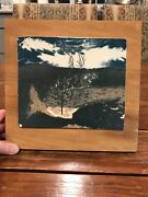 """Antique Landscape Hand Painted Art Pottery Tile By Catharine Lumpkin 11x11"""""""