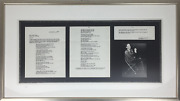 Cole Porter Composer Signed Document Consenting To The Use Of His Name