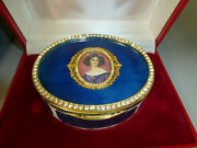 Vintage 80s Swiss Reuge Guilloche Enamel Musical Jewelry Box Watch The Video