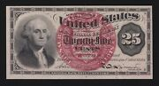 Us 25c Fractional Currency 4th Issue Uwmk Large Seal Fr 1302 Ch Cu 003