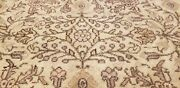 Primitive Antique 1930-1940and039s Muted Natural Dye Wool Pile Oushak Rug 7x10ft