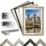 Picture Frame Wooden Melbourne Photo Frame Wood With Silver Stripes 4 Various