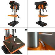 10 In. Drill Press With Laser | Cast Iron Guide Base Bench Power Chuck Speed