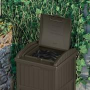 Outdoor Trash Hideaway | Suncast Garbage Patio Can Deck Waste Lid Java Bin Resin